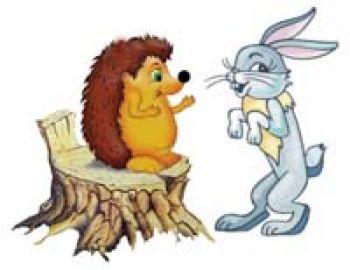 рисунок зайца и ежика подала развод